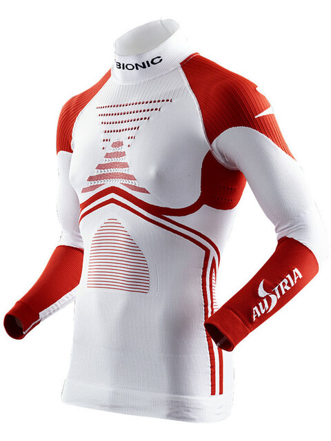 X-Bionic Patriot ACC Evo Austria - Camiseta de manga larga - rojo/blanco